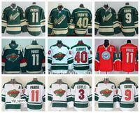 Zach Parise Jersey 11 Hóquei no gelo Minnesota Wild 64 Mikael Granlund 22 Nino Niederreiter 16 Jason Zucker 40 Camisas de Hóquei Devan Dubnyk Ice