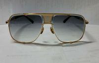 Men Sunglasses Square Pilot Mens Box Gray Gradient Lens 2087 Gold Glases With Sunglasses Glasses Eyewear Black New Vintage Dpitc