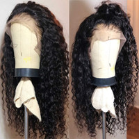 Curly Full Lace Human Hair Wigs With Baby Hairs Pre Plucked ...