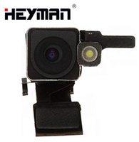 Módulo de cámara del iPhone de Apple Para 4 Volver trasero grande de enfoque automático de la cámara trasera Frente a piezas de repuesto de flash