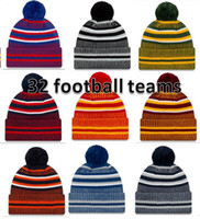 2019 새로운 도착 부업 비니 모자 미식 축구 32 개 팀 스포츠 겨울 사이드 라인 니트 모자 비니 니트 모자는 B02를 shippping 드롭