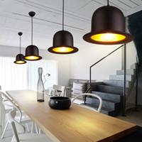 Lampade a sospensione per interni in stile moderno E27 Lampada in alluminio Cappello a cupola Cappuccio LED ristorante negozio bar luce apparecchio 110-240V-I56