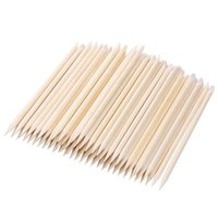 Pusher per cuticole 100pcs / set Donne Lady Doppia Doppia End Nail Art Wood Stick Pusher Rimozione Pedicure Set di strumenti professionali