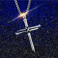 accessorio di moda in titanio acciaio collana ciondolo religioso puro acciaio Gesù maschile collana fede con trasporto di goccia chain