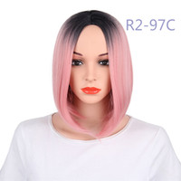 Fashion Synthetic Lace Frontal Wigs Straight Bob Fiber Hair ...