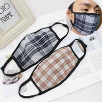 Reusable Striped Plaid Face Mask Outdoor Breatable Dust- proo...