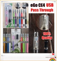 10 ШТ. EGo ce4 Масло Vape Pen Starter Kit Электронная сигарета 650 900 1100 мАч EGO-T UGO Micro USB 510 Аккумулятор CE4 Комплекты испарителя испарителя