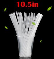 الصلبة الغذاء الصف أنبوب مستقيم 10.5 بوصة EP القش أحادية اللون PP قابلة لإعادة الاستخدام قش البلاستيك للرشاقة 26.5CM القش واضح
