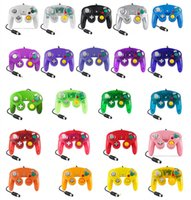 NGC Wired Gaming Game Controller Gamepad para NGC Console Gamecube Wii U Cabo de Extensão Turbo Dualshock 22 cores DHL frete grátis