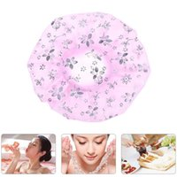 목욕 스파 모자 여성 방수 탄성 플라스틱 샤워 모자 목욕 목욕 모자 액세서리 무료 배송 고품질 2019 새로운