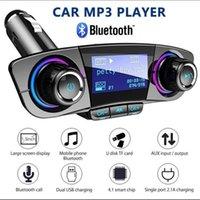شاحن سيارة أغنية لاعب سيارة MP3 كيت يدوي بلوتوث اللاسلكية وزير الخارجية الارسال LCD مدخل aux المغير المسؤول الذكية المزدوج USB Gagets