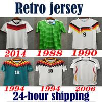 Germany 1990 1994 1988 Germany Retro version Soccer Jersey #18 KLINSMANN #10 Matthias Germany home away shirts JERSEY