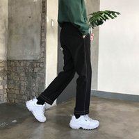 dafa50430a1 New Arrival. 2018 New Autumn Plus Velvet Thickening Jeans Man Black Feet  Pants Men Casual Party Travel Youth ...