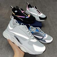 Homens Sapatos B22 Sneaker reflexivos Sneakers Plataforma sapatos de lona bezerro Trainers Top Azul Qualidade Mulheres Moda calçados casuais Multicolor