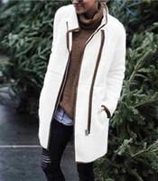 2019 outono e inverno novo casaco quente Europeu e mulheres casaco terry velo estande de moda colar tecla zipper americanos