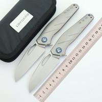 في جيب الاعتذار S35VN بليد التيتانيوم مقبض سكين للطي التخييم الصيد بقاء التكتيكية تحمل سكاكين الفاكهة أدوات edc