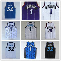 Hochwertige 32 O'Neal Jersey Penny 15 Carter Jerseys Tracy McGrady 1 Jerseys genähtes College-Shirts der Männer Vince 1 Hemd Basketball Hardaway