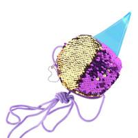 Gift Bag Mermaid Paillettes gelato della moneta Bag Mini cerniera portafoglio borsa tasca del cambiamento spalla per i bambini del rifornimento della festa