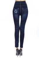 Mulheres Leggings New Skinny Jeans de Cintura Alta Calças Jeans Stretchy Calças Lápis Frete grátis Casual Blue Jeans