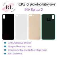 100PCS OEM for iPhone 8 8 plus X battery back cover glass re...