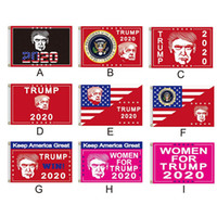 2020 Trump presidente Bandiera US Flag Campagna elettorale Donna Per Trump 2020 Keep America grande decorazione Banner 9 stili AN3278
