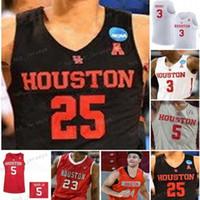 NCAA Özel Houston Cougars Koleji Basketbol Formaları Herhangi bir Adı Number 25 Galen Robinson 3 Armoni Brooks 5 Corey Davis Jr. 13 Dejon Jarreau