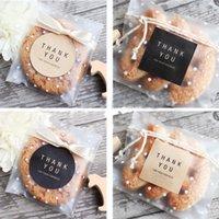108pcs Emballage boîte-cadeau Autocollant de sucrerie Dragée Boîte de gâteau de chocolat Sac de biscuit Kraft papier autocollant sacs Emballage cadeau Fournitures