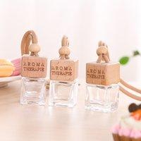Nueva decoración colgante exquisito de 12 tipos de vidrio de la botella de perfume del coche materiales de aromaterapia aceite esencial botella de accesorios de automóviles T3I5787