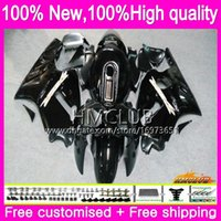 حقن لKAWASAKI ZX 12 R 1200 C CC ZX1200 ZX12R 00 01 الجسم الأسود اللامع 70HM.47 ZX 12R 1200CC ZX12R 00 01 2000 2001 OEM Fairings للمجموعة