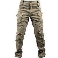 جديد القطن مطاطا نسيج المدينة العسكرية التكتيكية للشحن الملابس الداخلية للرجال SWAT القتال الجيش بنطلون ذكر عادية العديد من جيوب السراويل