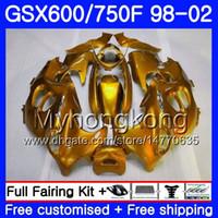 Кузов для SUZUKI GSXF 750 600 gsxf750 глянцевый Золотой все 1998 1999 2000 2001 2002 292HM.61 GSX 600F 750F катана GSXF600 98 99 00 01 02 обтекатель