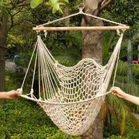 Ao ar livre interior jardim dormitório quarto pendurado balanço de algodão hammock cadeira sólida corda jarda patio varanda jardim frete grátis