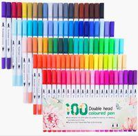 Sanat Çift İpucu BrushPen Suluboya Marker İle İki Uçlar Renk Kalem Çizgi Çizim Kalem Mobil Stüdyo Sanatları El Sanatları Hediyelik HA336 Malzemeleri Boyama