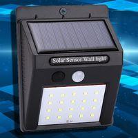 Mur solaire extérieur suspendu 20 LED Lampes Maison Jardin Smart Motion Sensor Capteur Nuit Mur de sécurité Lumières Route Imperméable LED Lampe DH1188