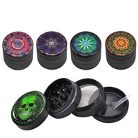 Flower Pattern Grinder Skull Metal Aluminum Smoking Herb Gri...