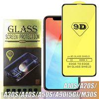 9D Полных Изогнутый закаленное стекло для Samsung A40S A30S A20S Защитная пленка для Huawei P30 P20 Lite 2019 Нов 4E с розничным пакетом