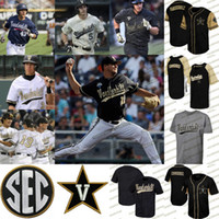 Vanderbilt Commodores CWS Or Proglam Jersey 51 J.J Bleday 3 Cooper Davis 16 Austin Martin 7 Dansby Swanson NCAA Baseball