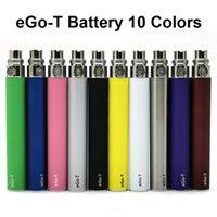 EGO T bateria E Cigarro Vape Baterias 650mAh 900mAh 1100mAh Não ajustável Tensão Fit 510 Atomizadores de Threading 10 Cor 10