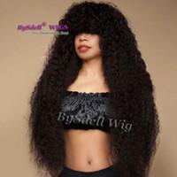 Afro kinky lockige Haarperücke Frizzy Braid Courly Wave-Stil African American Perücken Synthetische Spitze Frontperücken Für Schwarze Frauen