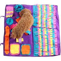 كلب انخنخ حصيرة الحيوانات الأليفة الشم التدريب غطاء قابل للفصل الصوف وسادات الكلب مات تخفيف الضغط Nosework لغز لعبة الحيوانات الأليفة الأنف وسادة