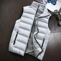 Aşağı yelek erkekler Kış Kolsuz Ceket Erkekler 5XL Ultralight Beyaz İnce Yelek Erkek Windproof Yelek Boyutu Isınma Ördek