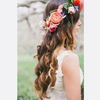 Romântico boêmio flor de casamento headband nupcial headpiece flor coroa boho casamento coroas noivas cabeça guirlanda cabelo flores acessórios