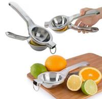 Limon sıkacağı Paslanmaz Çelik Portakal Sıkma Limon Klip Meyve Suyu Raybaları Hızlı Basın Aracı Mutfak Aksesuarları CYL-YW1076 Kulp