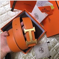 With original box 2019 gold silver Smooth buckle belts for m...