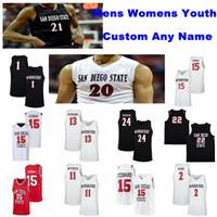 San Diego State Aztecs Trikots Jared Barnett Jersey Flynn Mike Pope Nathan Mensah Mensah College Basketball Trikots Mens Custom genähtes