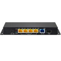 Freeshipping 5-Anschlüsse 10/100 / 1000m Gigabit 48V PoE-Schalter mit Gigabit-SFP-Faserinjektor für den drahtlosen Zugangspunkt / IP-Kamera / IP-Telefon