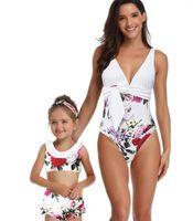 kız bayanlar çocuk Mermaid tek parça yüksek bel flaş anne kız ebeveyn çocuk baskı seksi yakuda esnek şık Leopard Baskı bikini seti