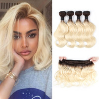 50G / Bundle Ombre Blonde Hair Bundles 짧은 밥 스타일 10-12 인치 브라질 바디 웨이브 4 번들 자연 색상 레미 인간의 머리카락 확장