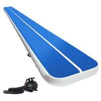 قوانغتشو مصنع بالجملة نفخ الطابق الهواء رخيصة السعر قابل للنفخ الهواء المسار حصيرة الأزرق الهواء تراجع حصيرة