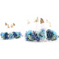 Feather Flower Crown Floral Plume Headband Photography Props...